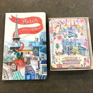 New Paris journal and travel notecard set